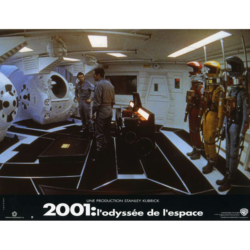 2001 A SPACE ODYSSEY Lobby Card N3 9x12 in. French - 1990 - Stanley Kubrick, Keir Dullea