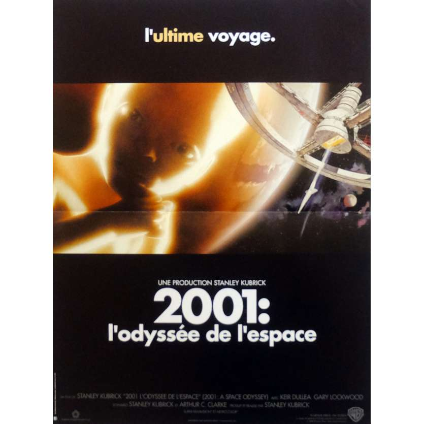 2001 A SPACE ODYSSEY Movie Poster 15x21 in. French - 1990 - Stanley Kubrick, Keir Dullea