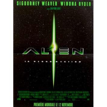 ALIEN RESURRECTION Movie Poster 15x21 in. French - 1997 - Jean-Pierre Jeunet, Sigourney Weaver