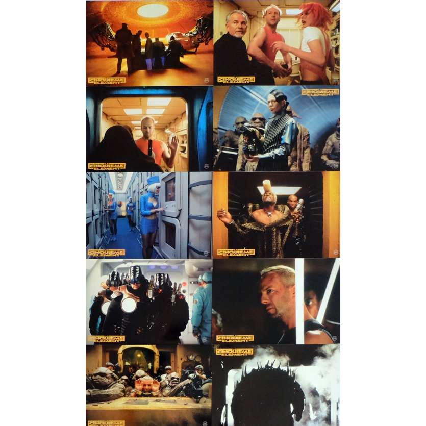 5TH ELEMENT Lobby Cards x10 11,8x12,6 in. French - 1997 - Luc Besson, Bruce Willis
