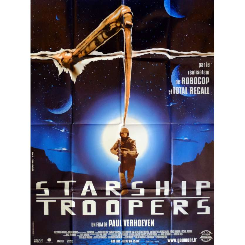 STARSHIP TROOPERS Movie Poster 47x63 in. French - 1997 - Paul Verhoeven, Denise Richard