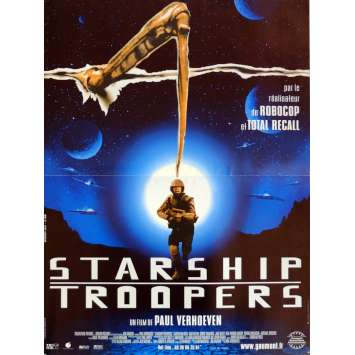 STARSHIP TROOPERS Movie Poster 15x21 in. French - 1997 - Paul Verhoeven, Denise Richard