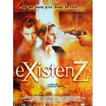 EXISTENZ Movie Poster 15x21 in. French - 1999 - David Cronenberg, Jude Law