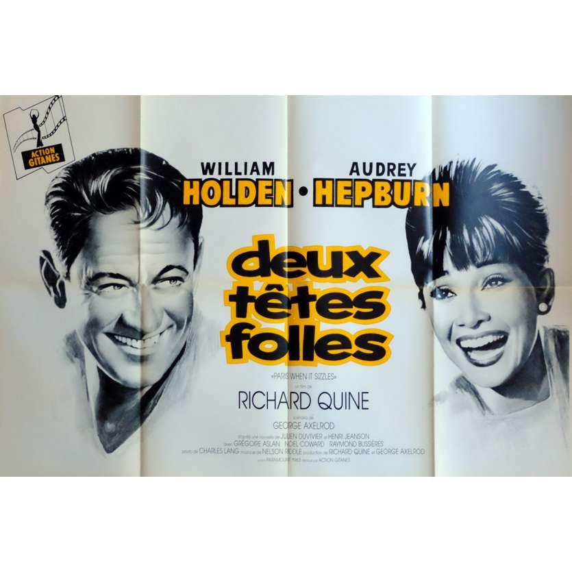 PARIS WHEN IT SIZZLES Movie Poster 32x47 in. French - R1970 - Richard Quine, Audrey Hepburn