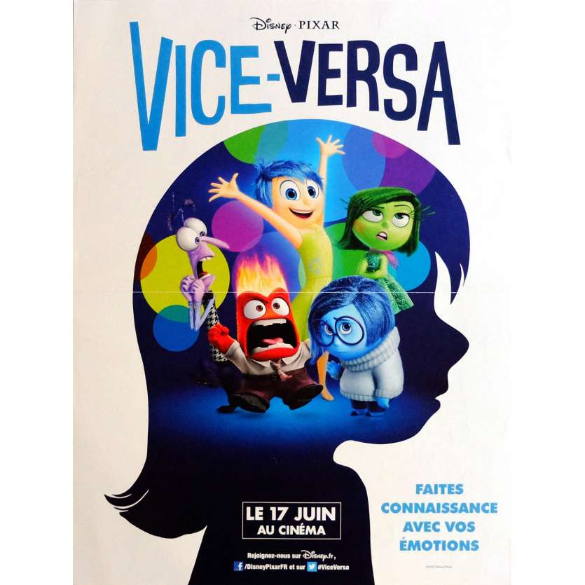 INSIDE OUT Movie Poster 32x47 in. French - 2015 - Pixar, Bill Hader