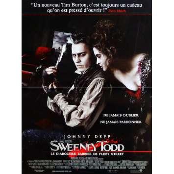SWEENEY TODD Movie Poster 32x47 in. French - 2007 - Tim Burton, Johnny Depp