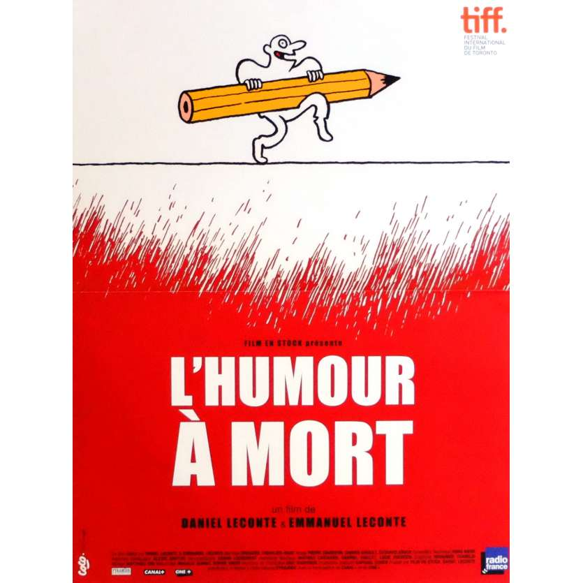 L'HUMOUR A MORT Affiche de film 40x60 cm - 2015 - Elisabeth Badinter, Daniel Leconte