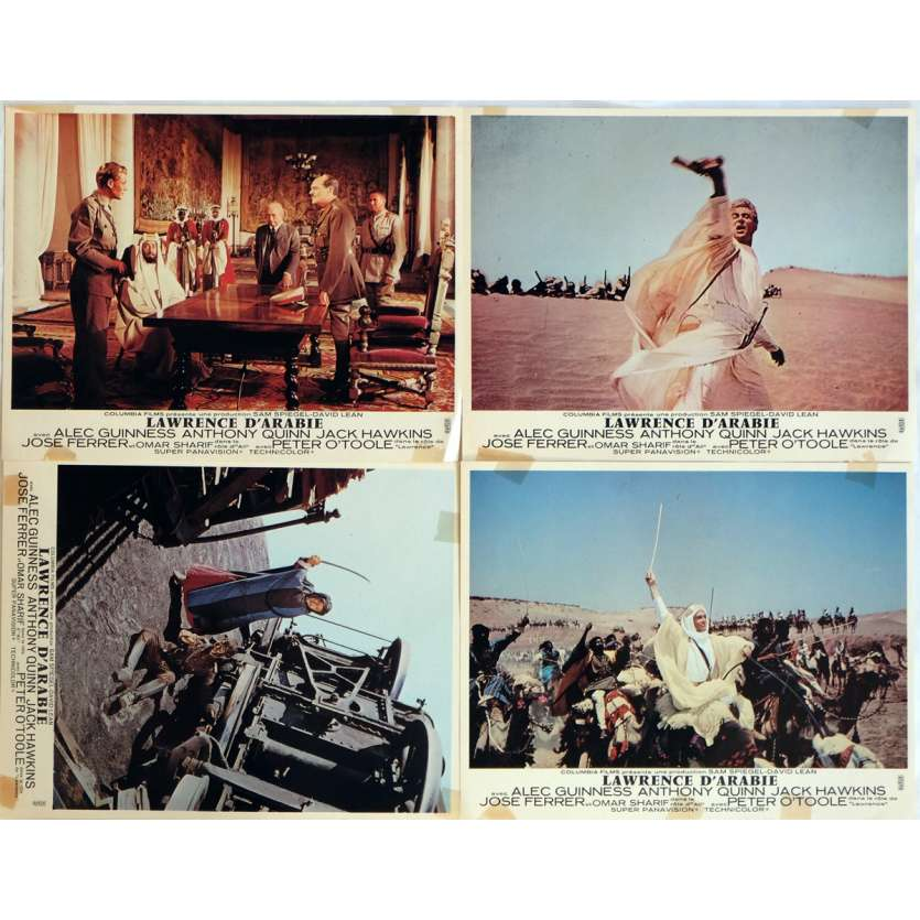 LAWRENCE OF ARABIA Lobby Cards x4 9x12 in. French - R1970 - David Lean, Peter O'Toole