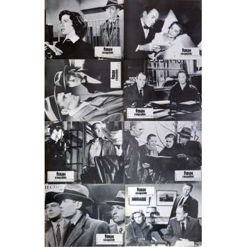FAUX COUPABLE Photos de film x8 21x30 cm - R1970 - Henry Fonda, Alfred Hitchcock