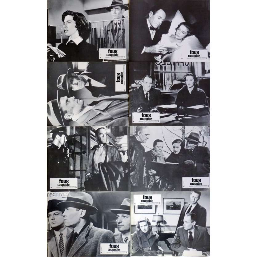 THE WRONG MAN Lobby Cards x8 9x12 in. French - R1970 - Alfred Hitchcock, Henry Fonda
