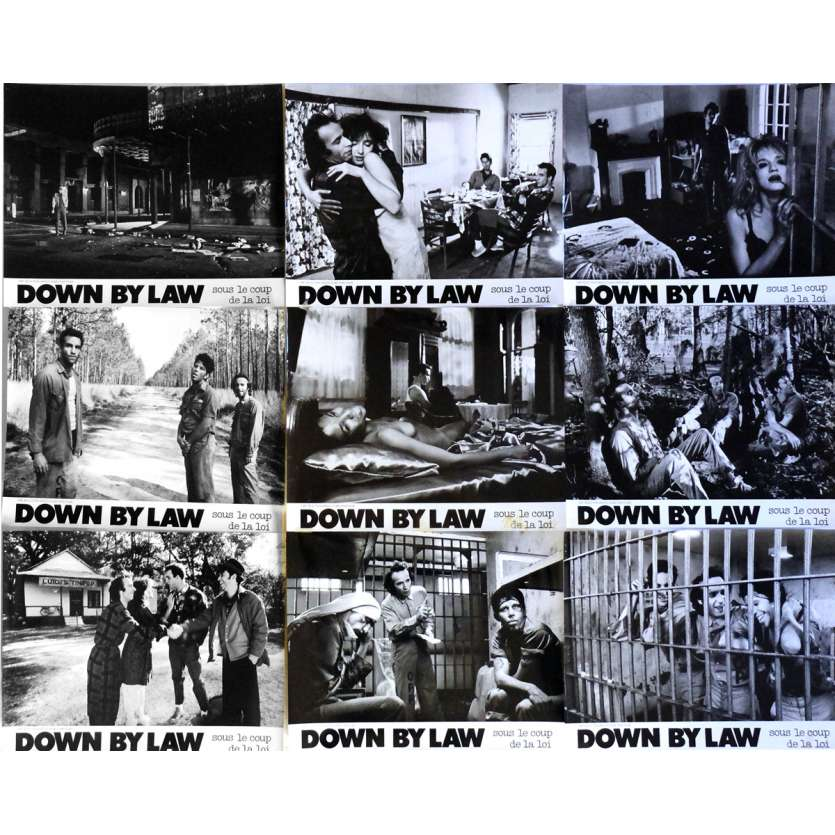 DOWN BY LAW Lobby Cards x10 9,5x12 in. French - 1986 - Jim Jarmush, Tom Waits