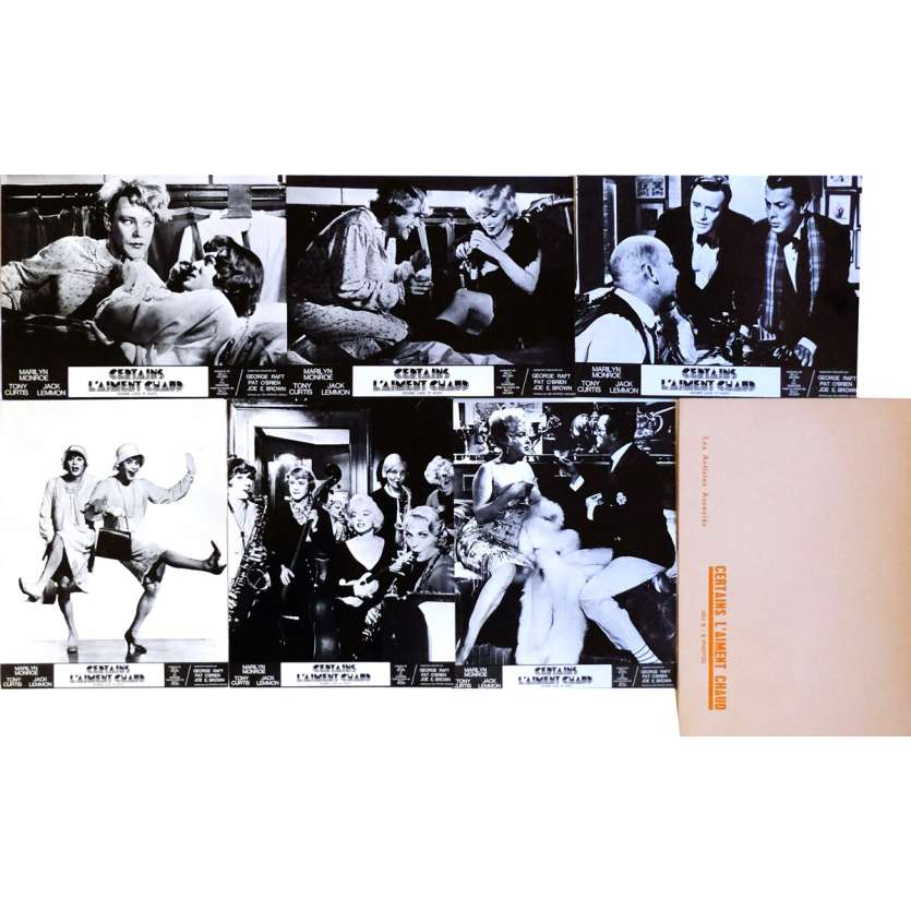 SOME LIKE IT HOT Lobby Cards x6, Jeu A 9x12 in. French - R1970 - Billy Wilder, Marilyn Monroe