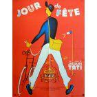 JOUR DE FETE Movie Poster  23x32 in. French - R1970 - Jacques Tati, Paul Frankeur