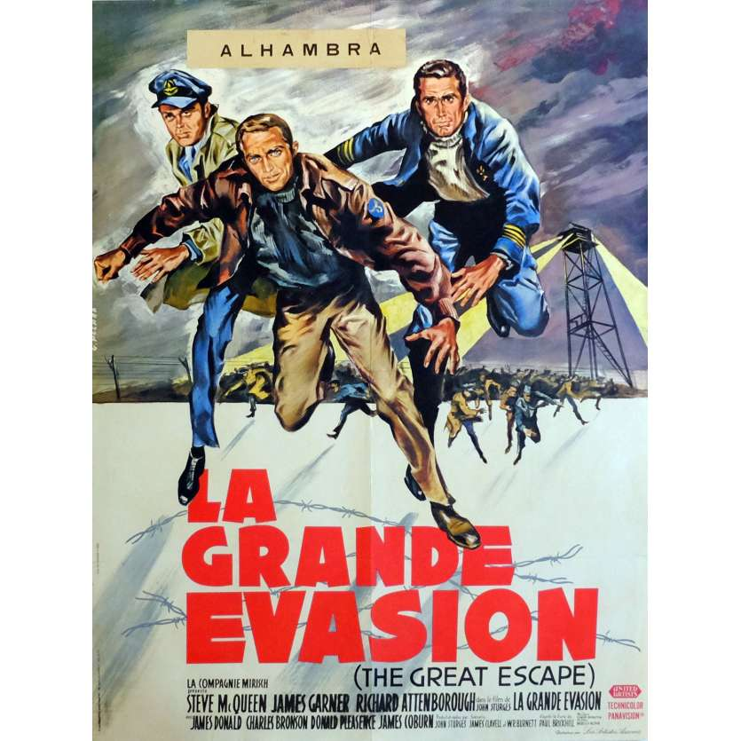 THE GREAT ESCAPE Movie Poster 23x32 in. French - 1963 - John Sturges, Steve McQueen