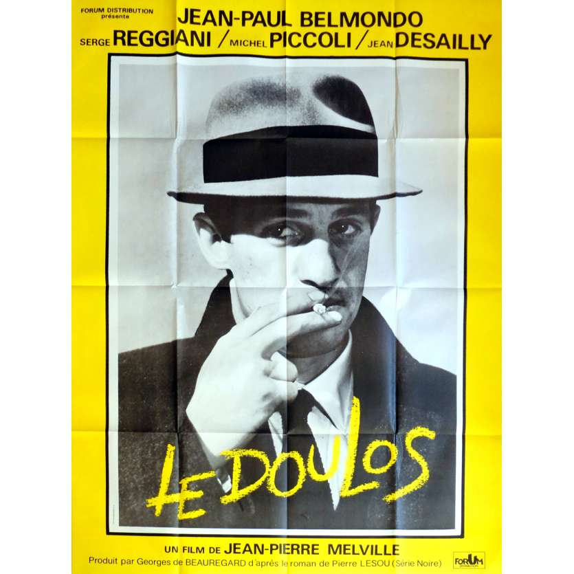LE DOULOS Movie Poster 47x63 in. French - 1962 - Jean-Pierre Melville, Jean-Paul Belmondo