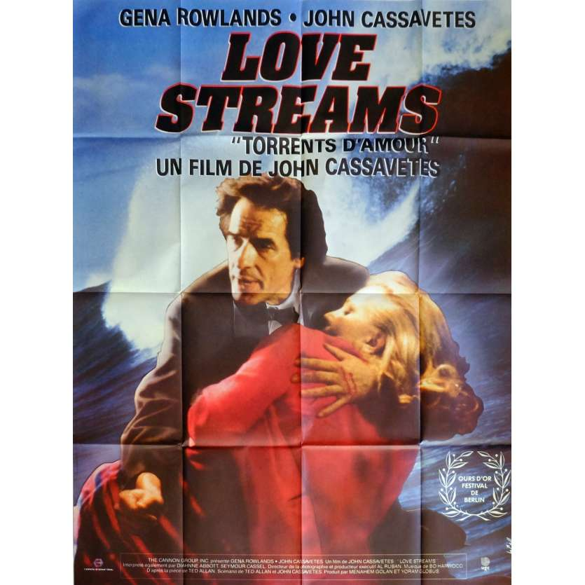 LOVE STREAMS Movie Poster 47x63 in. French - 1984 - John Cassavetes, Gena Rowlands