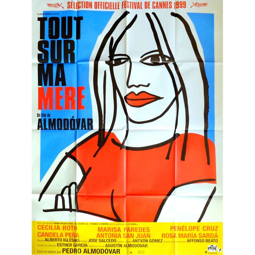 ALL ABOUT MY MOTHER Movie Poster 47x63 in. French - 1999 - Pedro Almodovar, Cecilia Roth