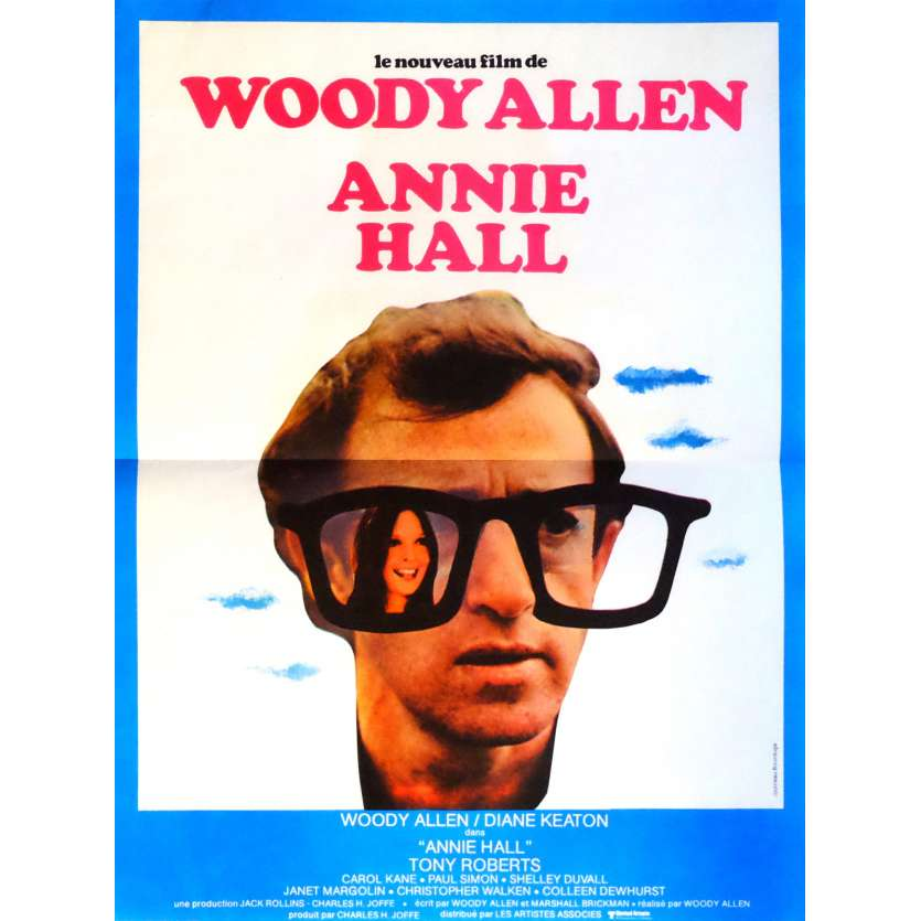 ANNIE HALL Movie Poster 15x21 in. French - 1977 - Woody Allen, Diane Keaton