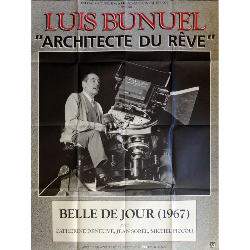 BELLE DE JOUR Movie Poster 47x63 in. French - 1967 - Luis Bunuel, Catherine Deneuve
