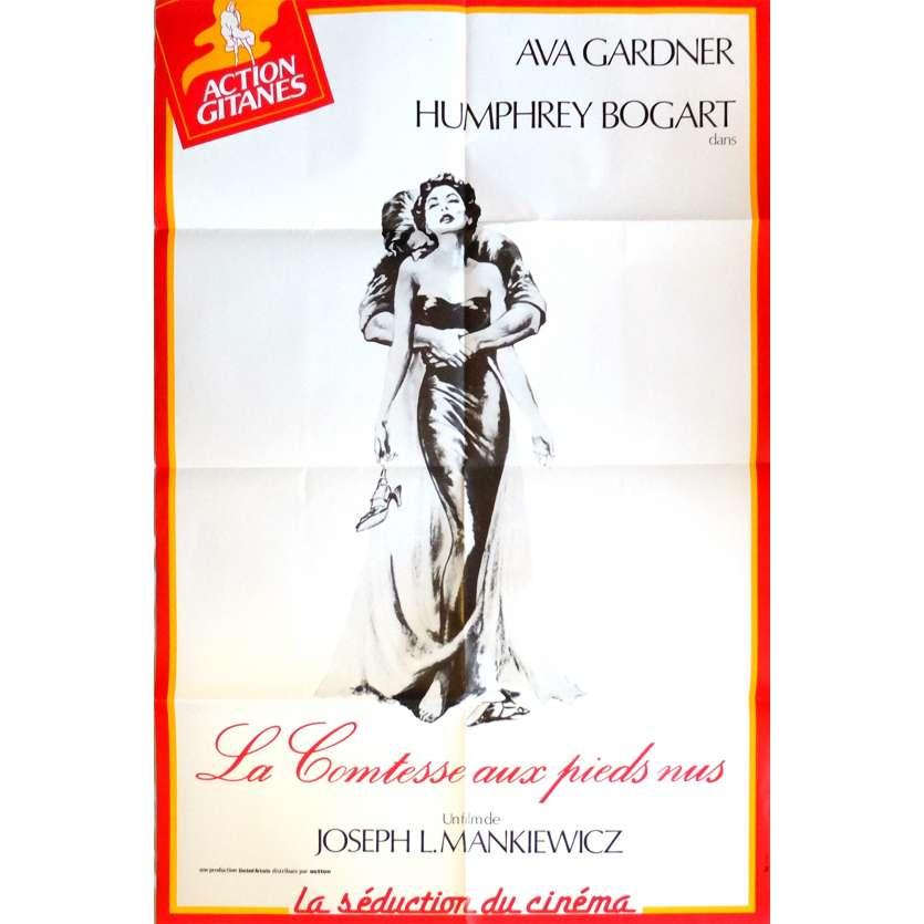 THE BAREFOOT COMTESSA Movie Poster 32x47 in. French - R1970 - Joseph L. Mankiewicz, Ava Gardrner