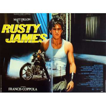 RUSTY JAMES Affiche de film 40x60 cm - 1983 - Matt Dillon, Francis Ford Coppola