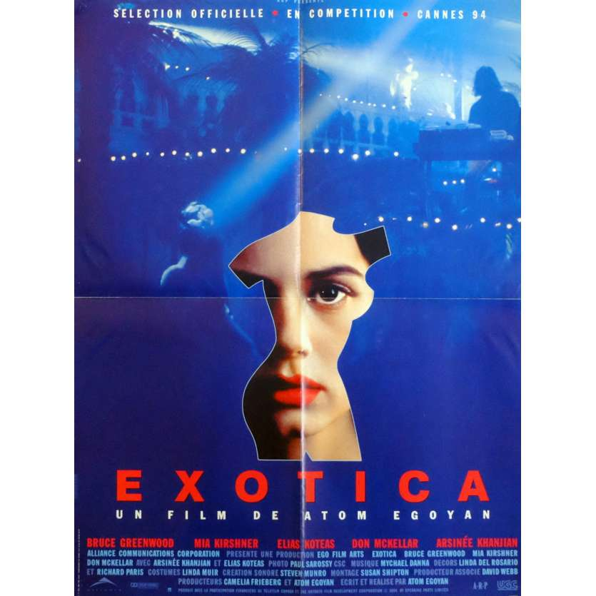 EXOTICA Movie Poster 23x32 in. French - 1994 - Atom Egoyan, Bruce Windwood