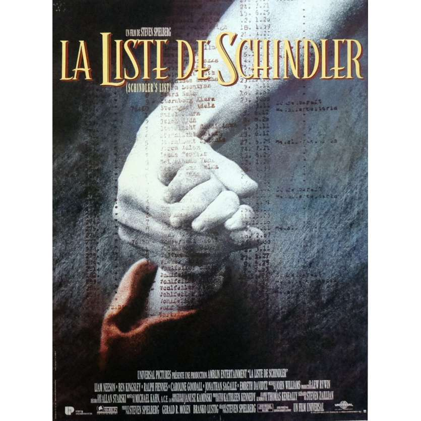 SCHINDLER'S LIST Movie Poster 15x21 in. French - 1993 - Steven Spielberg, Liam Neeson