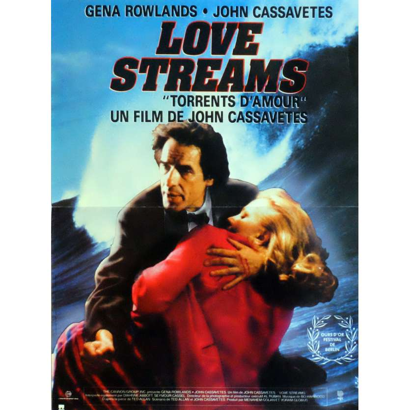 LOVE STREAMS Movie Poster 15x21 in. French - 1984 - John Cassavetes, Gena Rowlands
