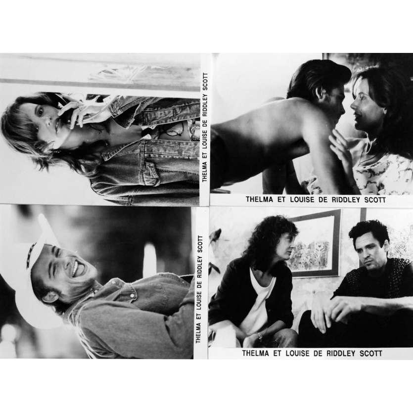 THELMA ET LOUISE Photo de presse x4 13x18 cm - 1991 - Geena Davis, Ridley Scott