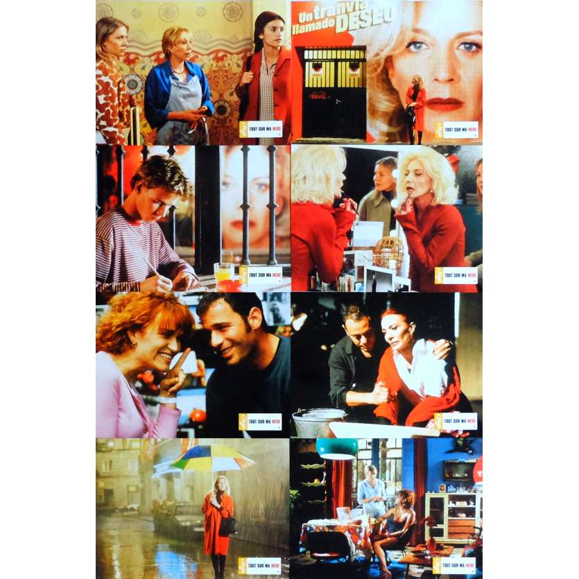 ALL ABOUT MY MOTHER Lobby Cards x8 9x12 in. French - 1999 - Pedro Almodovar, Cecilia Roth