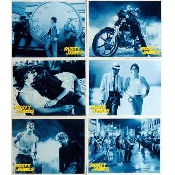 RUMBLE FISH Lobby Cards x6 9x12 in. French - 1983 - Francis Ford Coppola, Matt Dillon