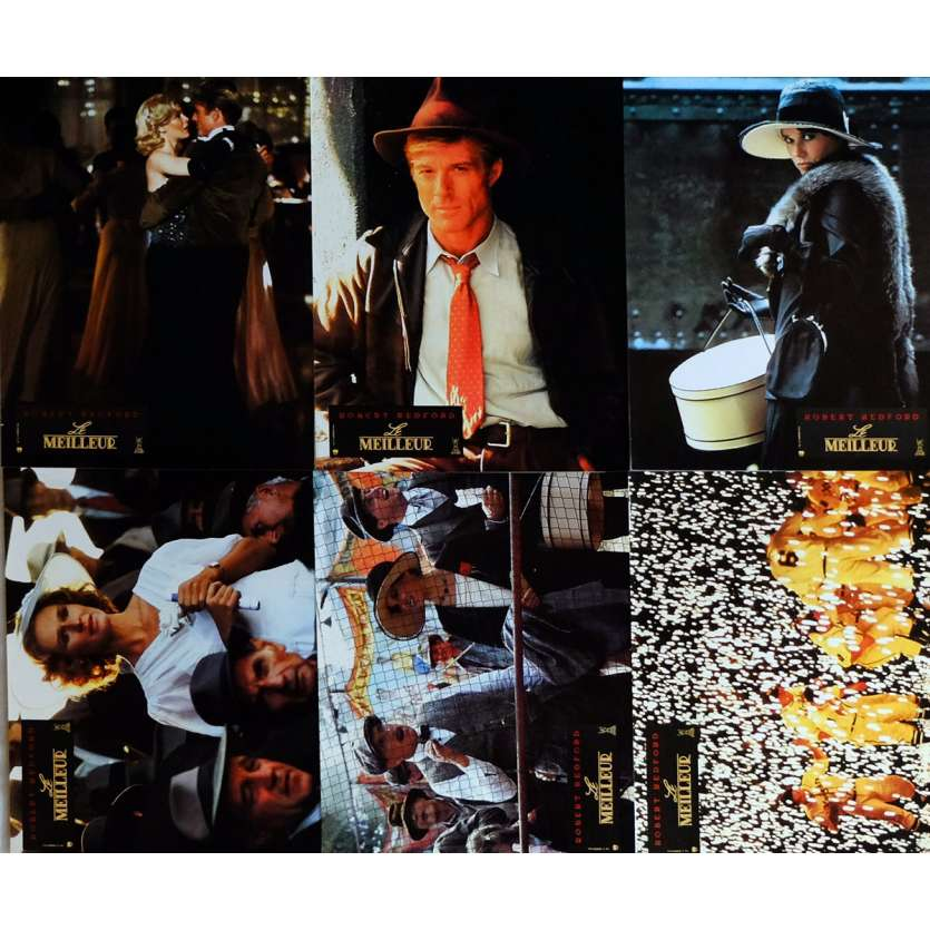 THE NATURAL Lobby Cards x6, Jeu A 9x12 in. French - 1984 - Barry Levinson, Robert Redford
