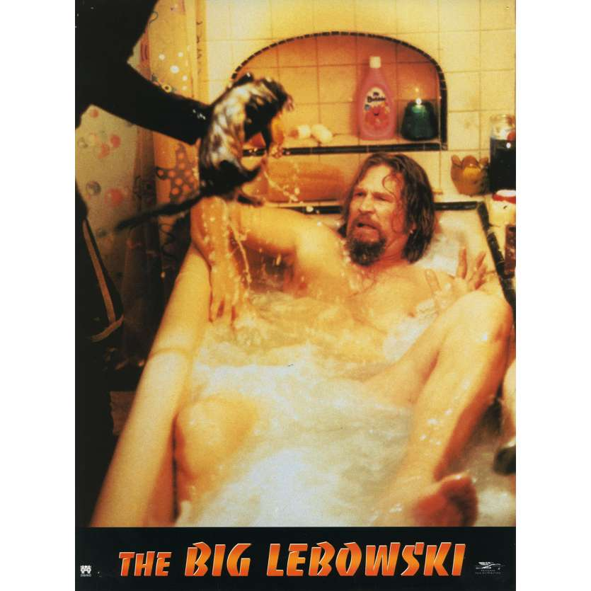 THE BIG LEBOWSKI Lobby Card N3 9x12 in. French - 1998 - Joel Coen, Jeff Bridges