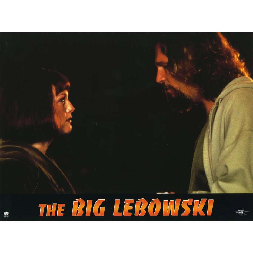 THE BIG LEBOWSKI Lobby Card N4 9x12 in. French - 1998 - Joel Coen, Jeff Bridges