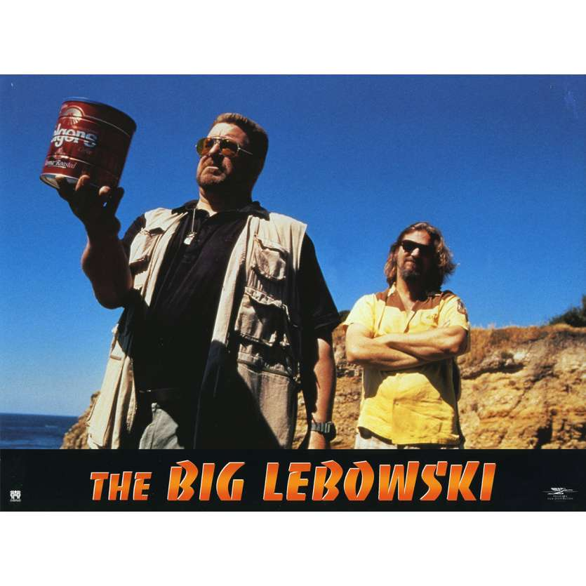 THE BIG LEBOWSKI Lobby Card N8 9x12 in. French - 1998 - Joel Coen, Jeff Bridges