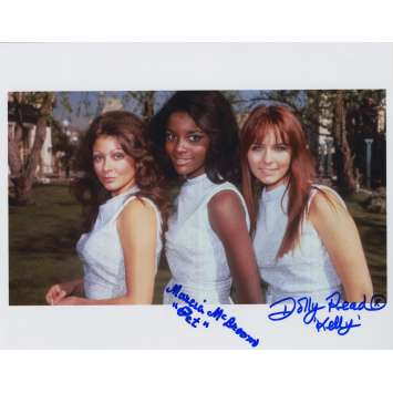 BEYOND THE VALLEY OF DOLLS Signed Photo A 8x10 in. USA - 1970 - Russ Meyer, Dolly Read, Marcia McBroom