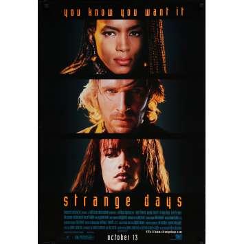 STRANGE DAYS Affiche signée 69x104 cm - 1995 - Ralph Fiennes, Kathryn Bigelow