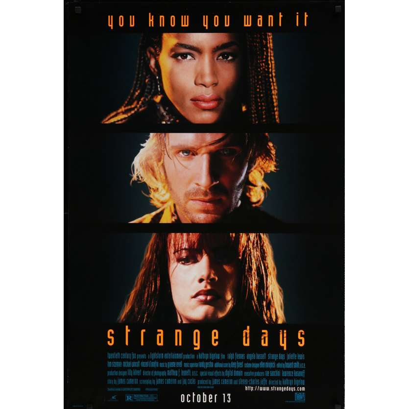 STRANGE DAYS Signed Poster 29x41 in. USA - 1995 - Kathryn Bigelow, Ralph Fiennes