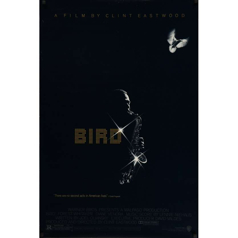 BIRD Signed Poster 29x41 in. USA - 1988 - Clint Eastwood, Forrest Whitaker