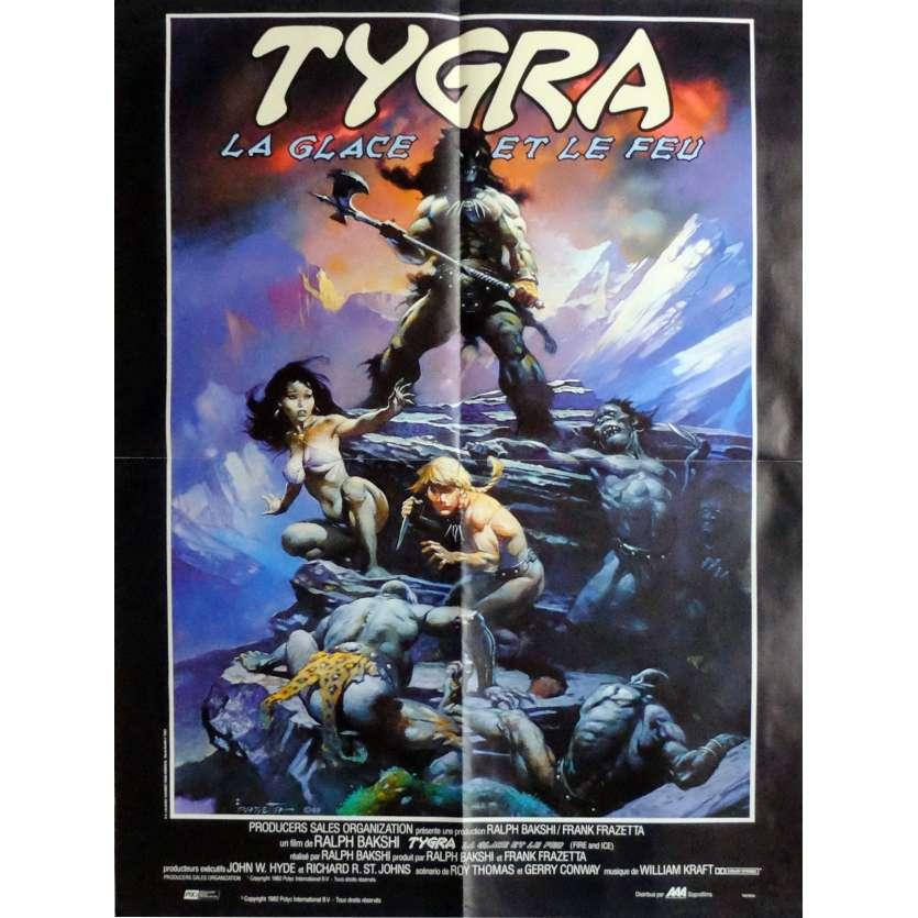 TYGRA LA GLACE ET LE FEU Affiche de film 60x80 cm - 1983 - Randy Norton, Ralph Bakshi