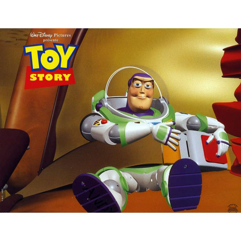 TOY STORY Lobby Card N2 9x12 in. French - 1995 - Pixar, Tom Hanks