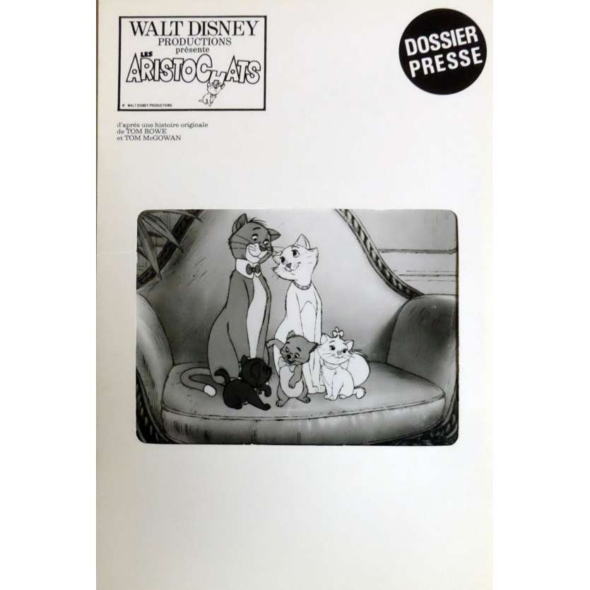 THE ARISTOCATS Pressbook 7x9 in. French - 1970 - Walt Disney, Phil Harris