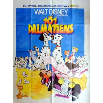 101 DALMATIANS Movie Poster 47x63 in. French - R1970 - Walt Disney, Rod Taylor