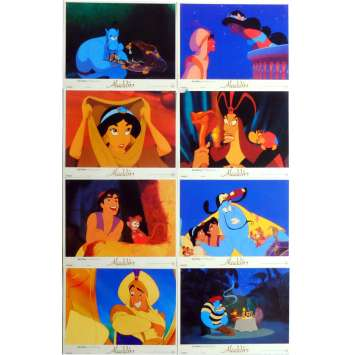 ALADDIN Lobby Cards x8 9x12 in. French - 1992 - Walt Disney, Robin Williams