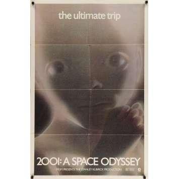 2001 L'ODYSSEE DE L'ESPACE Affiche de film 69x102 - R70's - Keir Dullea, Stanley Kubrick