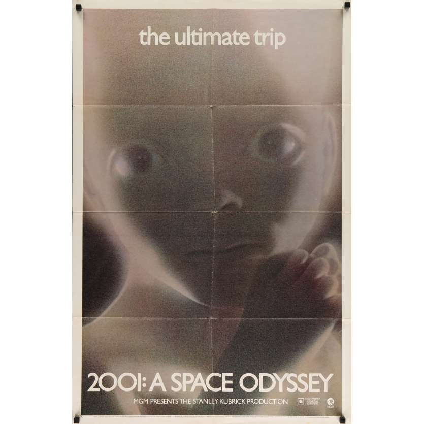 2001: A SPACE ODYSSEY US Movie Poster 27x40 - R70's - Stanley Kubrick, Keir Dullea