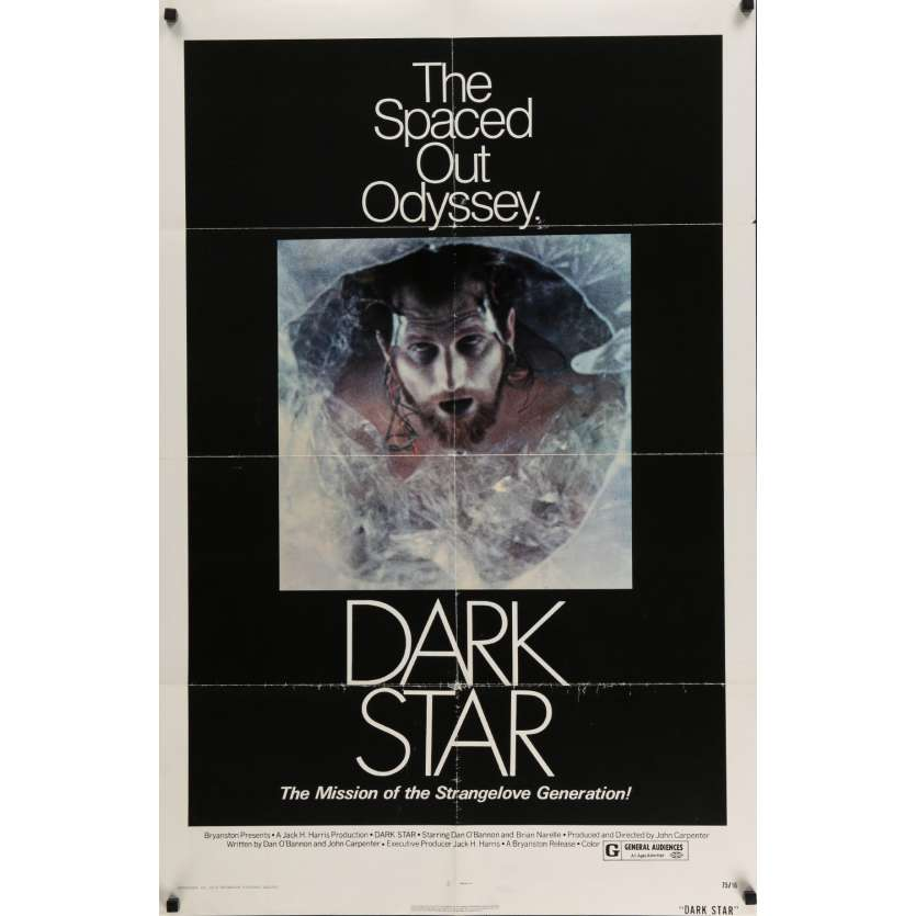 DARK STAR Affiche de film 69x104 cm - 1974 - Dan O'Bannon, John Carpenter