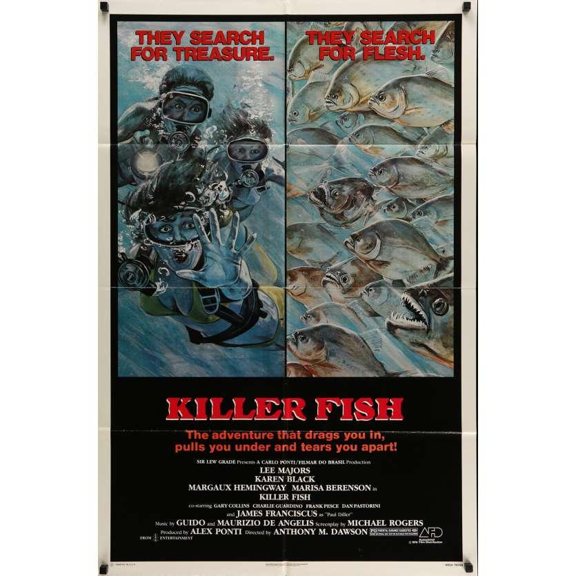 KILLER FISH Movie Poster 20x28 in. USA - 1979 - Antonio Margheriti, Lee Majors