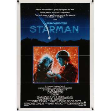STARMAN Movie Poster 29x41 in. USA - 1984 - John Carpenter, Jeff Bridges
