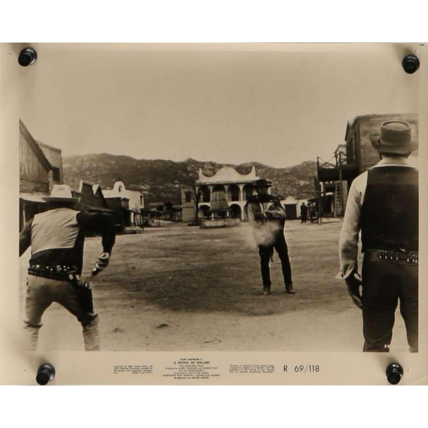 POUR UNE POIGNEE DE DOLLARS Photo de presse N7 20x25 cm - R1969 - Clint Eastwood, Sergio Leone